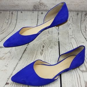 Banana Republic Pointed D'Orsay Flats 7.5 Cobalt